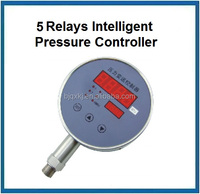 Range -0.1-0-100Mpa 5 relays stainless steel water pressure controller with dual display