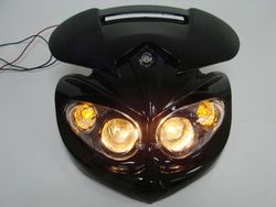 Black Streetfighter Stunt Head Light Fairing w/Brackets for F4i ZX6R NINJA CBR