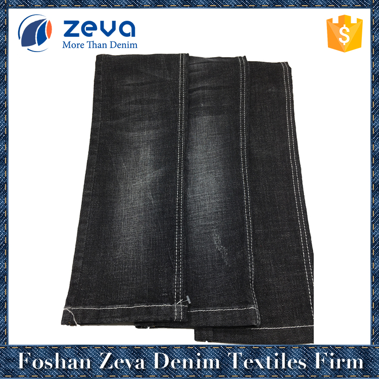 Best price top sell black denim fabric stocklot for woman jeans to pakistan