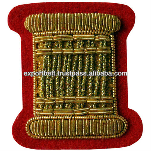 Drum Major Gold Wire Hand Embroidered Badge | embroidered bullion wire blazer badges