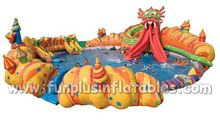 inflatable water playground with inflatable pool with cheap price F9005