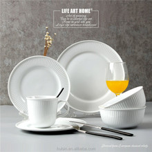 Wholesale 16pcs high quality white fine bone china porcerlain dinnerware