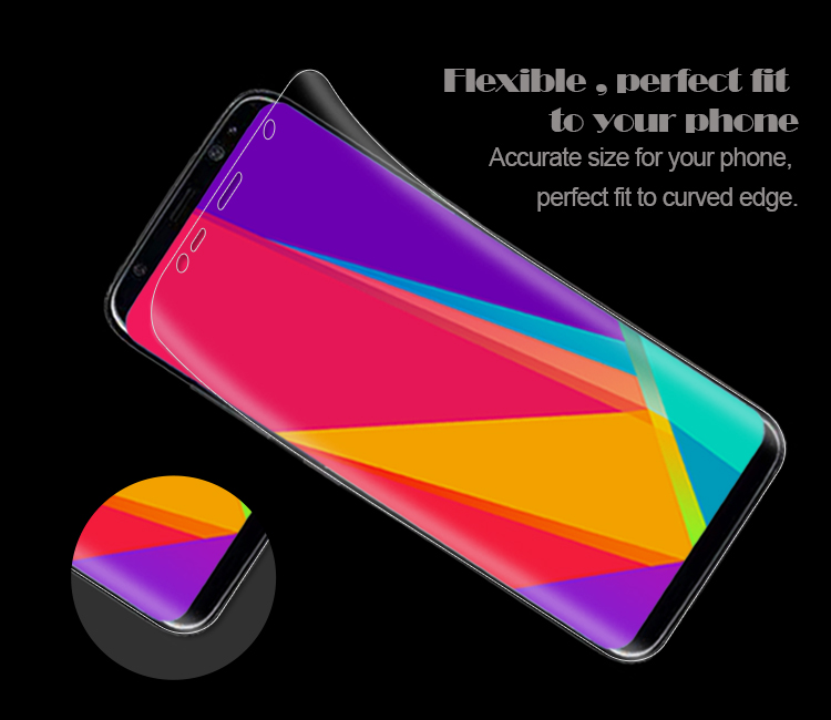 Full covered 3D curved PET screen protector for Samsung Galaxy S8 S8 Plus
