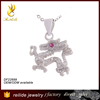 [Reilide]Chinese rain god dragon king in 925 sterling silver crystal rhinestone dragon shape necklace pendant