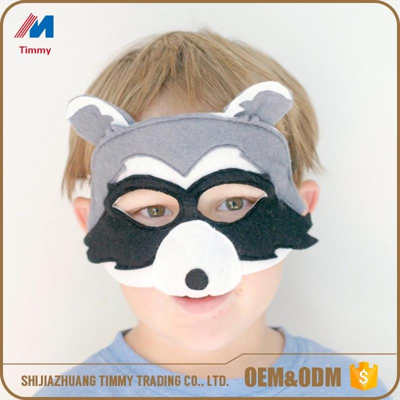 Halloween handmade felt timber wolf mask for kids' party