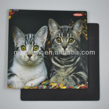 Guangzhou hot Lovely cat design use cloth rubber mouse pad / sublimation mouse pad