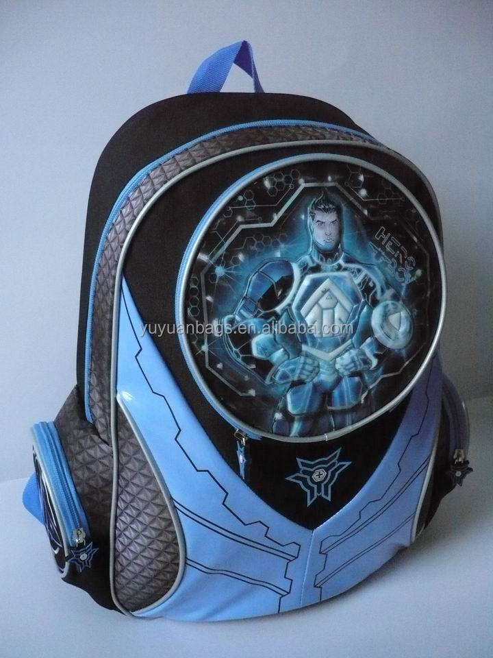 high quality cartoon Student school bag kids backpack hot sale student backpack for children wholesale (YE15219B)