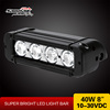 8 inch Waterproof IP67 Cree 40W led emergency light bar for Off road UTV 4WD