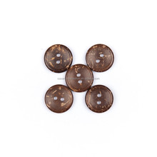 Diy 2 holes natural coconut shell wood kids handicraft making button