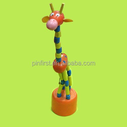 New Wooden Toy Wood Puppet Handwork Giraffe toy