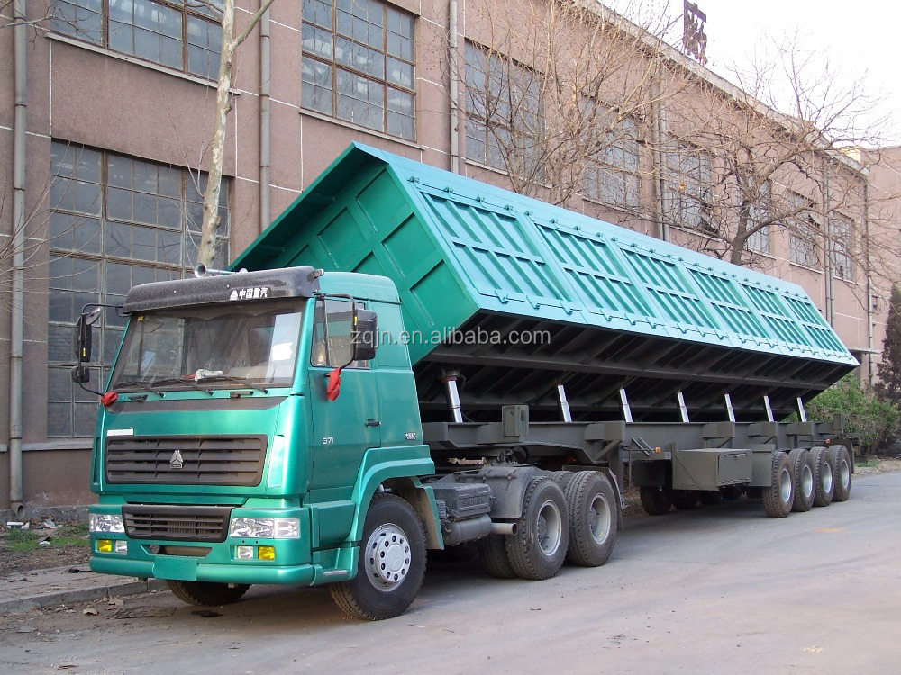 Hot Sale 3-axle 55 Tons Coal Trailer In Truck Semi Trailer Or Semi-trailer Truck