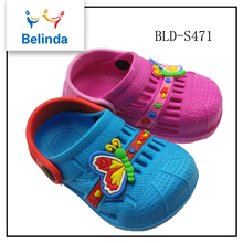 Lower price hot sale all size girls eva clogs with rubber soles