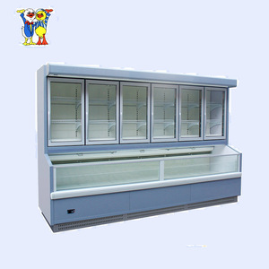 China Little Duck supermarket upright deep display freezer E7 ST.PAWL with CE certification