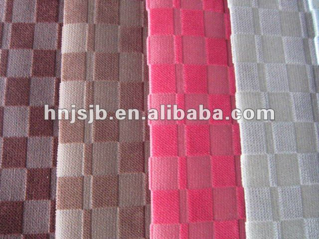 polyester crushed velvet upholstery fabric/embroidery design /sofa set fabric