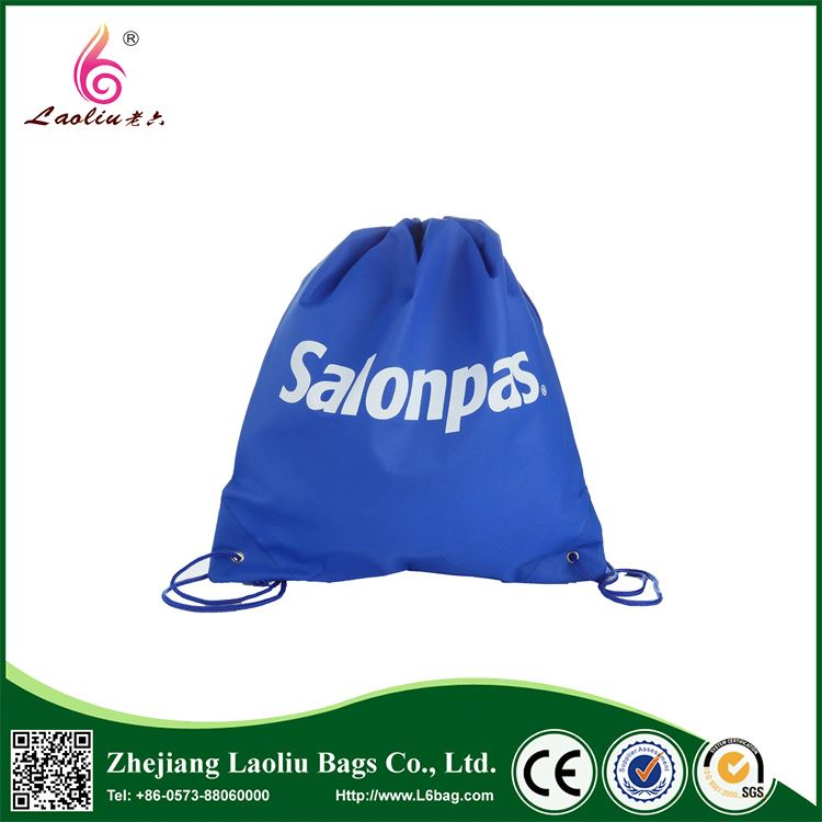 Most popular special design cheap polyester drawstring bag from China