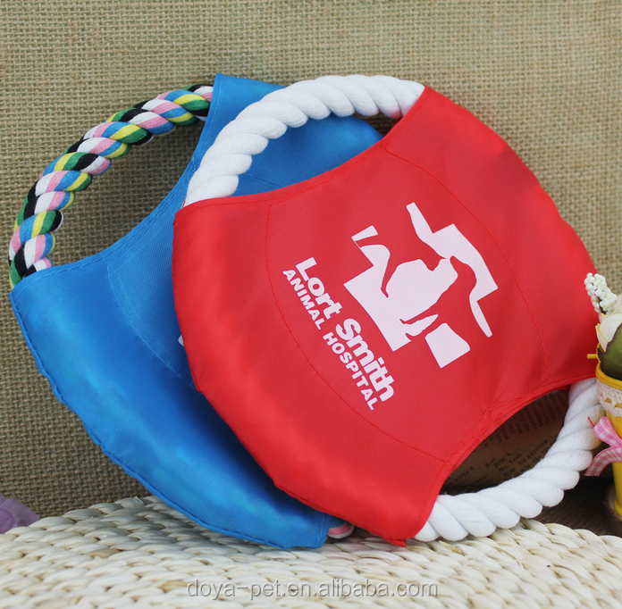 Pet toys flying disc training tools cotton rope dog rope frisbee