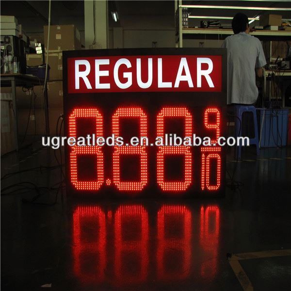 Alibaba best sellers RF 3G big size open signs with price funnel for gasoline