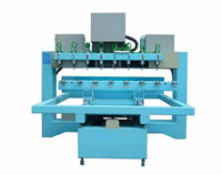 China Made Multihead 4 Axis CNC Wood Engraving Machine for Stair Railing Carving,8 HEADS