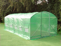 6 x 3.5 x 1.95m Garden Greenhouses Type and Steel Metal Type garden tunnel greenhouse for sale