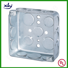 "Finely Processed 4"" Square Electrical Meter Conduit Junction Box"