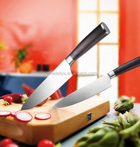 8 inch Chef Knife Kitchen Knife Utensils Stainless Steel Color Wood Handle 7Cr17 Blade Chef Knife with Gift Box