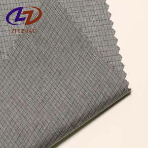 Super Light Poly Check Coat Fabrics