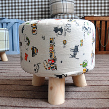 Portable outdoor stool fabric round foot stool /Lovely Short Round Disassembled 3 Foot Stool
