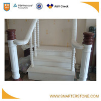 Home decoration white marble baluster handrail