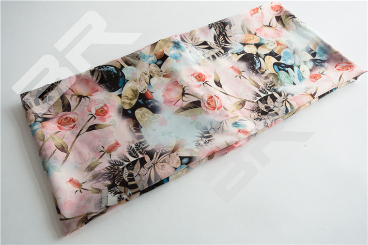 The Scarf fabric with Digital ink jet
