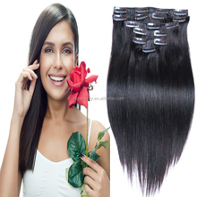 wholesale cheap virgin brazilian hair double drawn clip in human hair extensions for black women