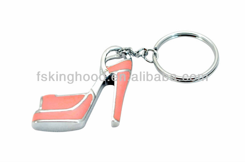 Custom High heels shaped zinc alloy key chain/key ring
