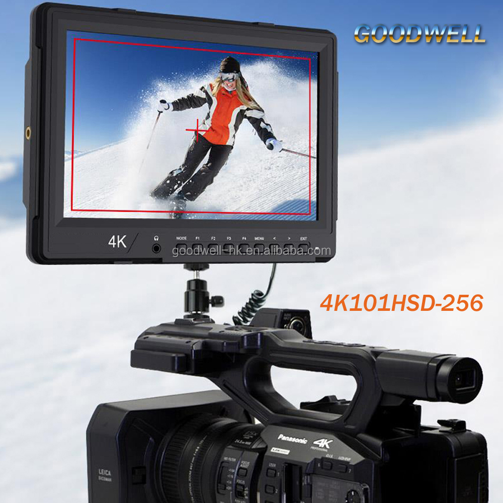 Made in China 4K HDMI Input 2560x1600 IPS Panel 10.1 inch SDI Broadcast Professional LCD Monitor with Dual View