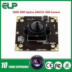 hot sale free driver WDR 3.7mm pinhole lens 3mp 32x32/38x38mm AR0331 sensor h.264 driver free usb pc camera microphone