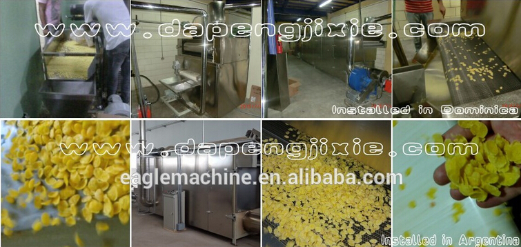 Breakfast Cereal flakes process/production line