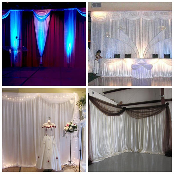 WHOLESALE event wedding aluminum backdrop stand pipe drape LOWEST PRICE cheap out door wedding pipe and drape kits