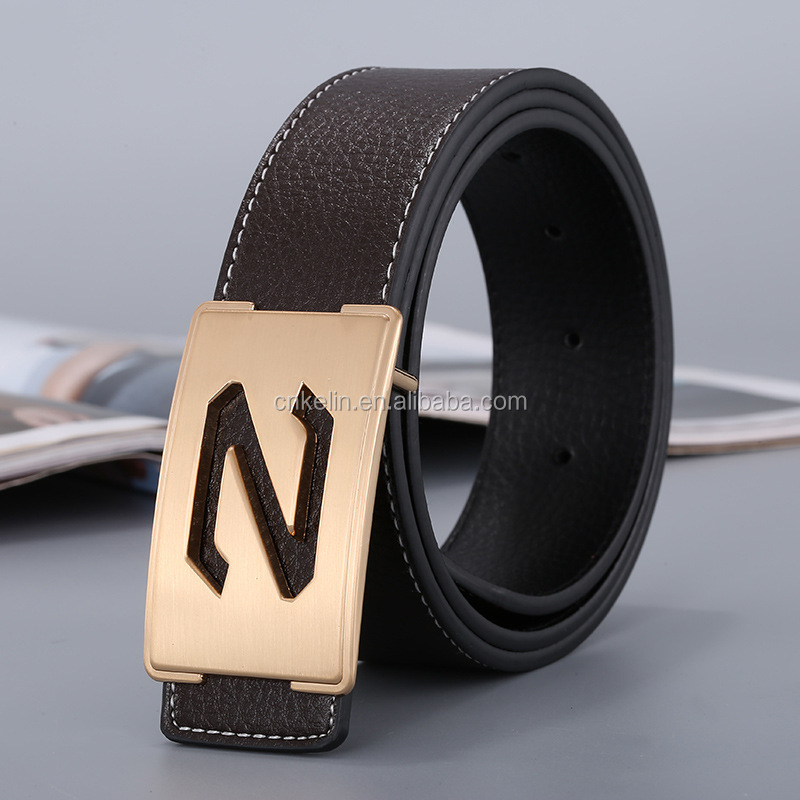 Hot selling promotional mens leather belts 100% genuine leather belt