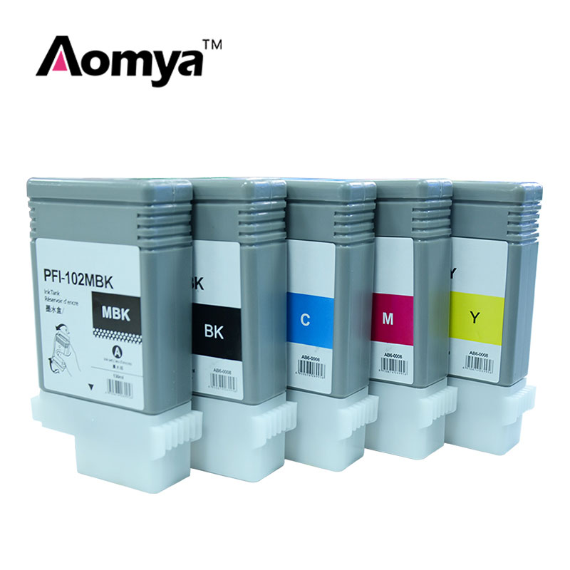 AAA grade compatible cartridge PFI-102 with chip 130ml