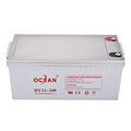 High capacity ocean 12v 200ah deep cycle solar battery for solar systems