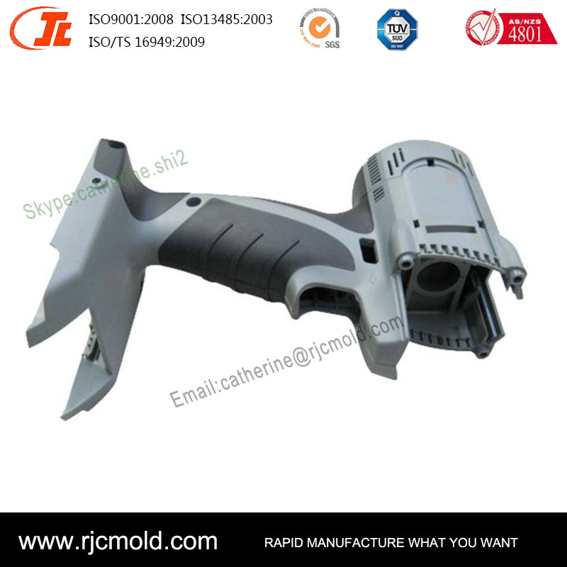 Professional manufacture detecting instrument handle parts by double injection molding,plastic injection mold