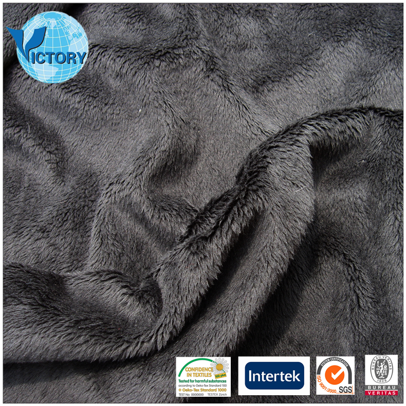 New 100% Polyester Double Micro Velboa Fabric Mink Micro for Blanket,Toy,Garment,etc.