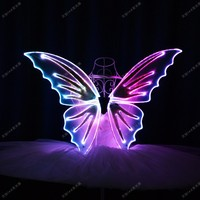 LED LUMINOUS GLOWING LIGHTING BUTTERFLY WINGS