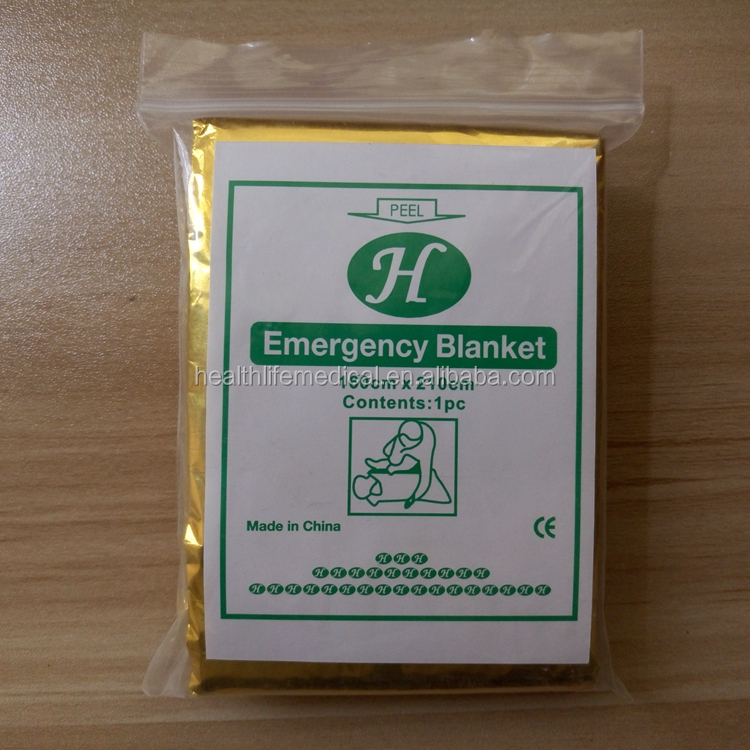 Survival medical equipment disposable rescue emergency blanket