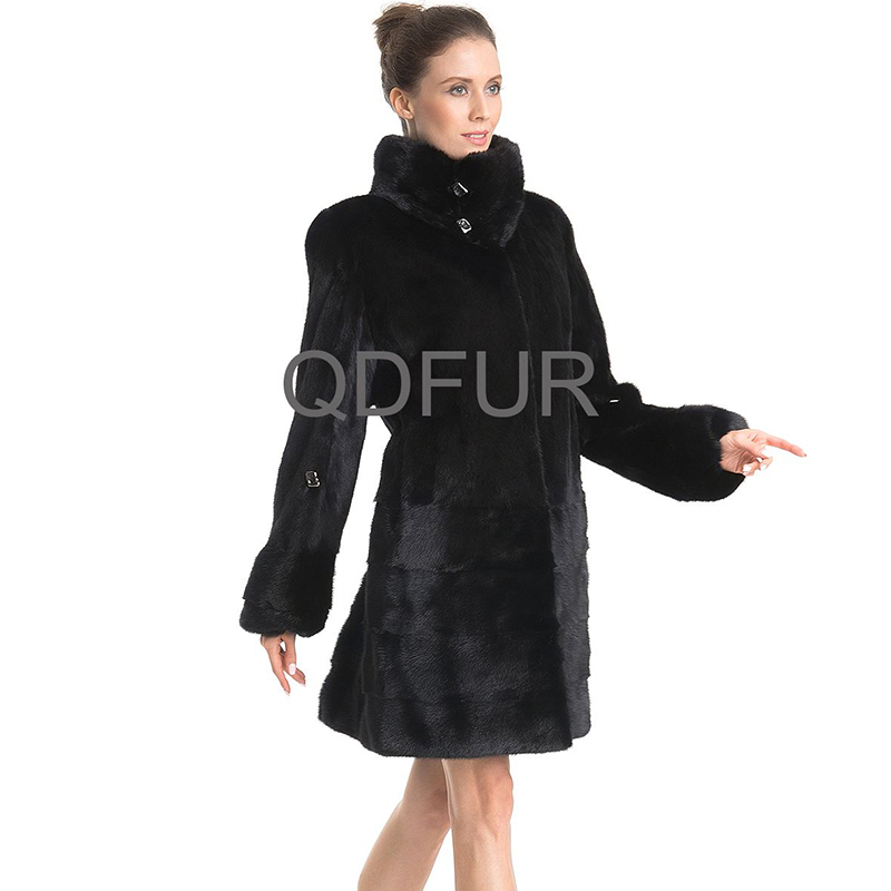 QD70731 China Online Shopping Mink Fur Ladies Winter Long Fur Coat