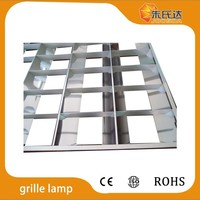 T8 Recessed grille lamp 2x18w 2x36w 3x18w 3x36w 4x18w 4x36w V Shape leaf Louver fitting 2ft 4ft T8 fluorescent light fixture