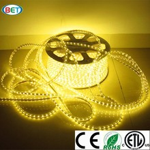 Shenzhen AC110 220V strips light SMD5050 60leds per meter high cri led strip led light swimming pool rope light