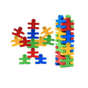 educational kid toy children's wooden balance building blocks