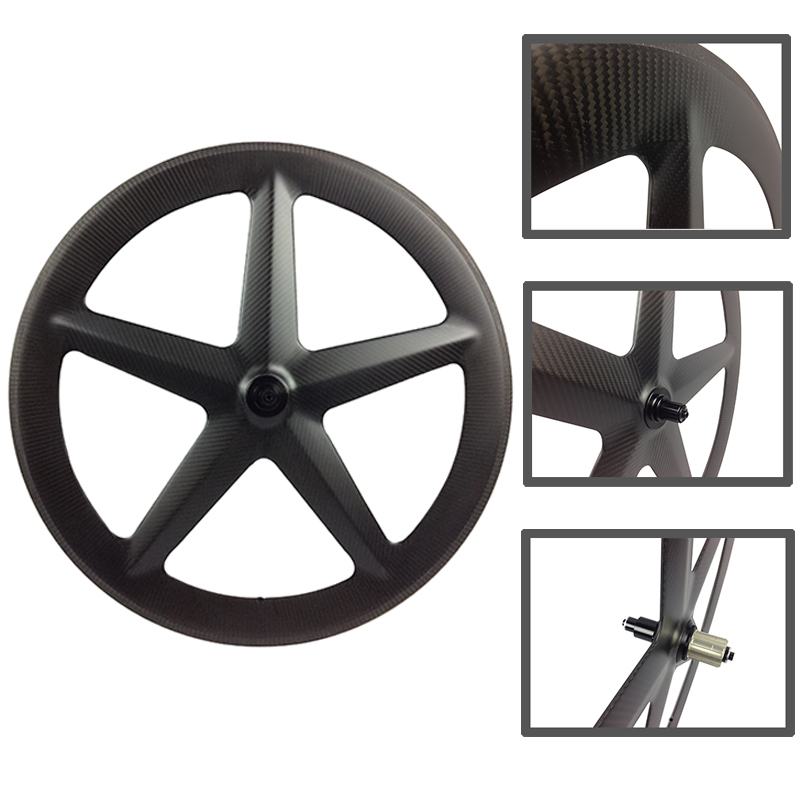18 months warranty high stiffness T1000 lightweight chinese carbon five spoke wheel