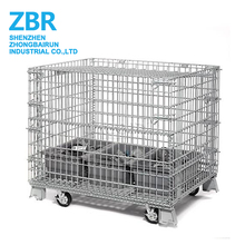 Galvanized Heavy Duty Stacking Steel Storage Cage For Supermarket