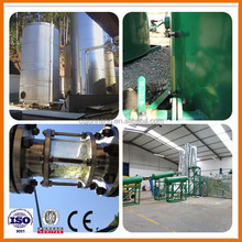 Automatic Production Line Type Waste Tire Oil Distillation to Diesel and Gasoline Machine