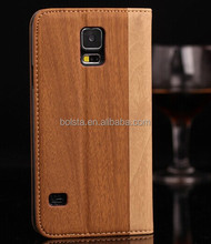 Hot selling waterproof wood texture leather case for samsung galaxy s4